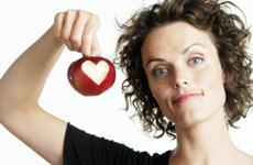 æble med hjerte